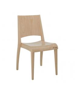 Sedia in legno massello in tinta naturale, per sala da pranzo o cucina