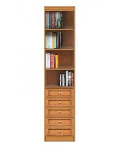 Modulo libreria 5 cassetti e 4 vani