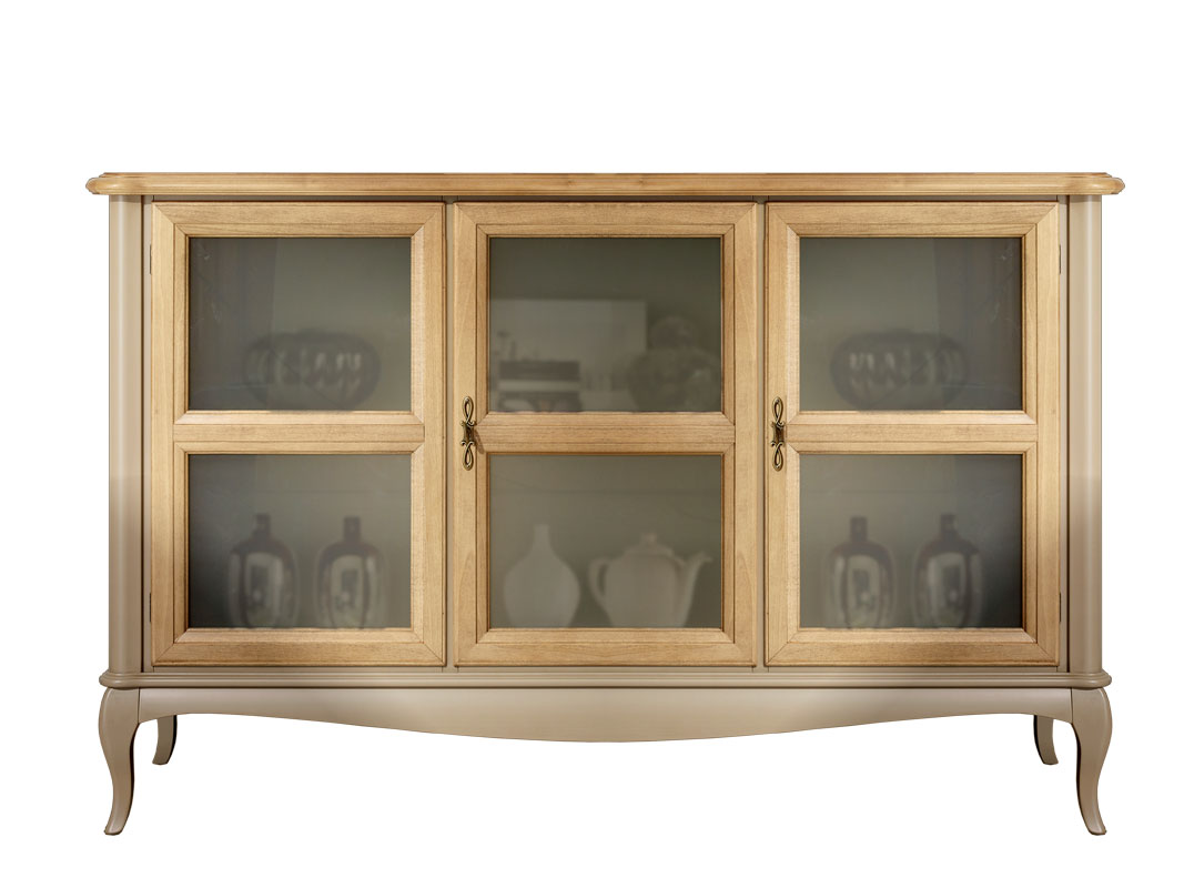 Credenza Bassa Con Vetrina : Credenza bassa con porte in vetro arteferretto
