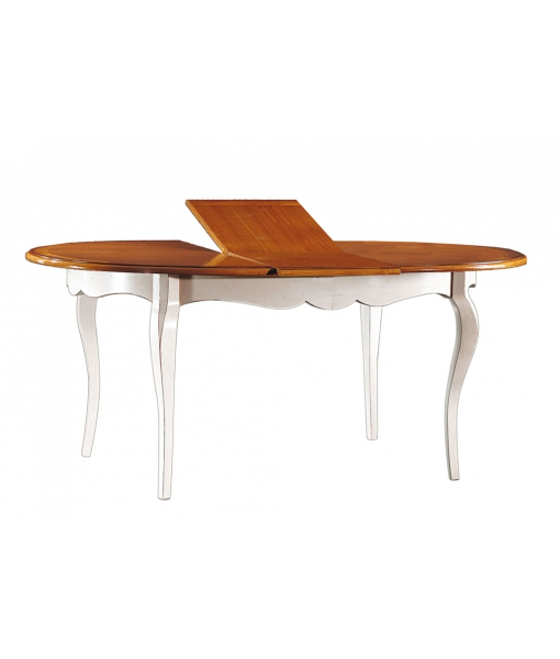 Tavolo da pranzo allungabile bicolore, installazione delle allunghe