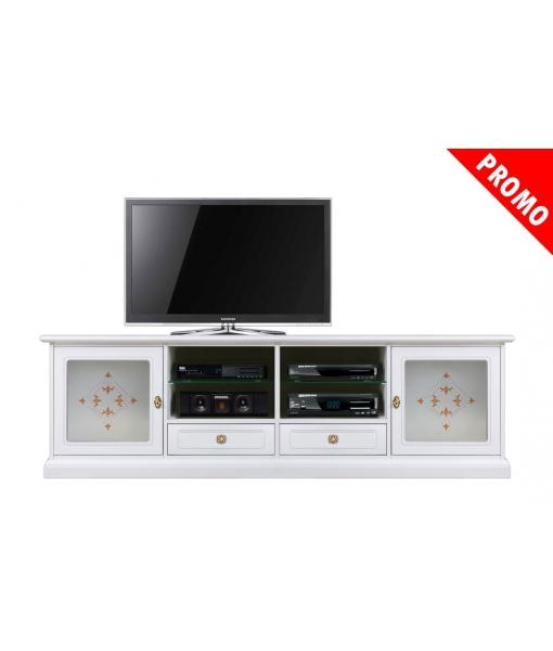Mobile porta TV 2 metri con cassetti, Art. 4010-VD