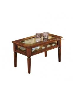 Tavolino a bacheca, tavolino rettangolare in vetro