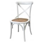 Sedia in legno colore bianco shabby