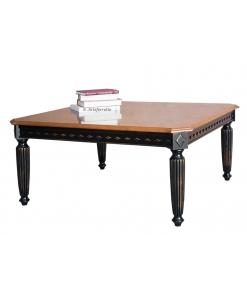 Tavolo quadrato bicolore in legno da salotto