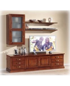 Composizione per parete Tv, mobili parete tv