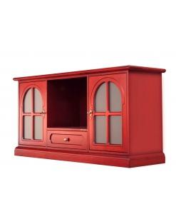 Mobile Tv rosso, mobile tv laccato