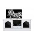 Mobile porta TV bianco con plex metacrilato nero
