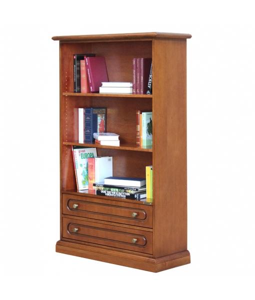 Libreria bassa da salotto con 2 cassetti, Art. 325