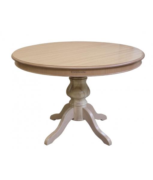 Tavolo rotondo in tinta naturale, Art. 446-120-NAT