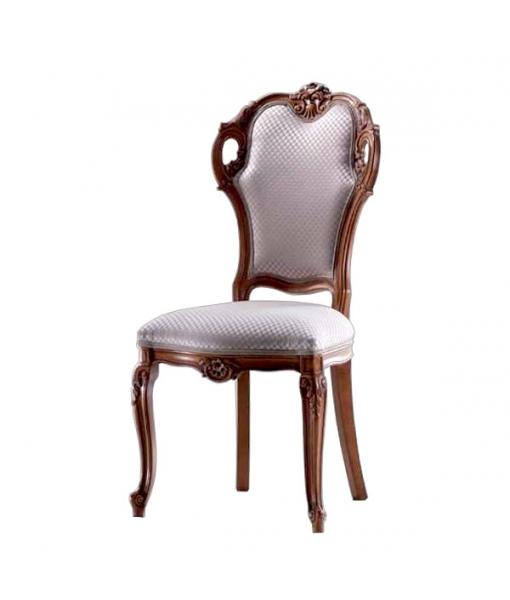 Sedia classica imbottita per sala da pranzo o salotto, Art. AF-9898