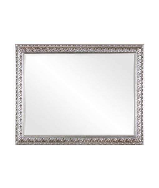Specchiera foglia  argento con bolo rosso, Art. DB-0303