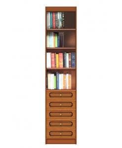 Libreria a colonna modulare, con 5 cassetti
