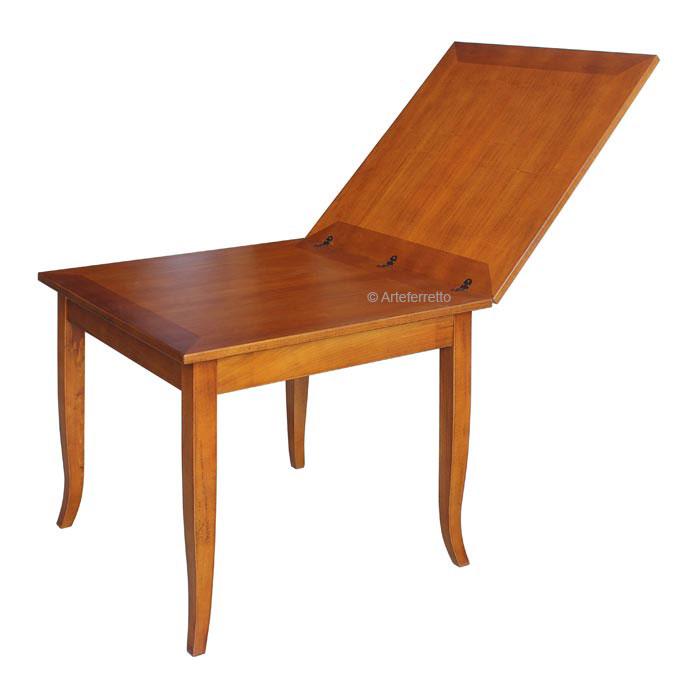 Tavolo quadrato allungabile a libro 100-200 cm - ArteFerretto