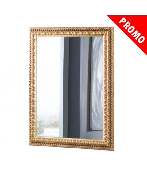 Specchiera foglia oro anticata in legno intagliato, Art. DB-040-1_styl