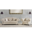 Salottino classico divano 2 posti Art. MS-D463 e poltrona Art. MS-D461
