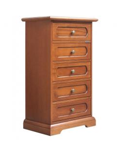 Cassettiera 5 cassetti classica in legno
