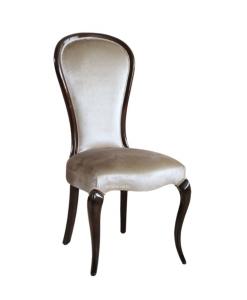 Sedia classica imbottita con schienale tondo, Arteferretto