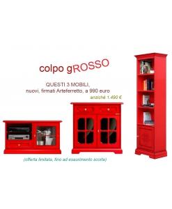 Set mobili colore rosso in offerta