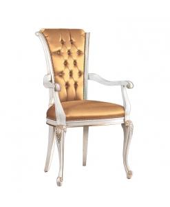 Sedia con braccioli per sala da pranzo o salotto