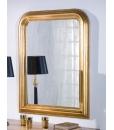 Specchio con cornice in foglia oro da salotto, camera da letto