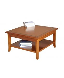 Tavolino quadrato da salotto basso, tavolino da tè / caffè, Arteferretto