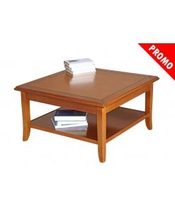 Tavolino basso da salotto in legno massello di tiglio