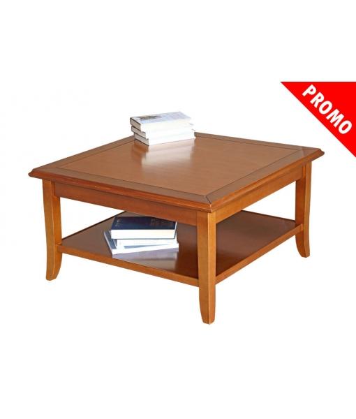 Tavolino basso da salotto in legno massello di tiglio, Art. FM-01L