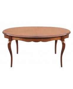 Tavolo ovale sagomato con allunga