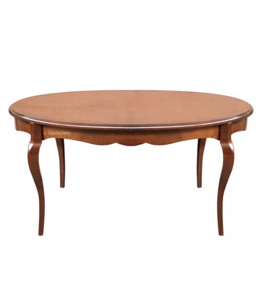 Tavolo ovale sagomato con allunga, Art. FR-345