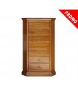 Cassettiera angolare con struttura in legno massello