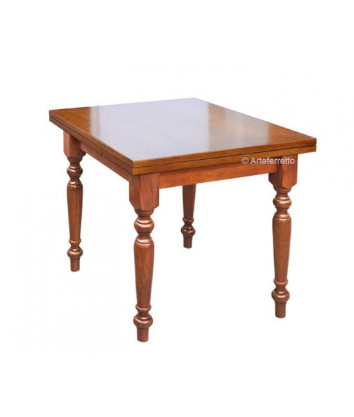 Tavolo rettangolare con allunghe 100 x 70 cm, Art. 100-70-TIR