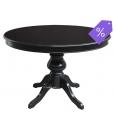 Classico tavolo rotondo allungabile nero