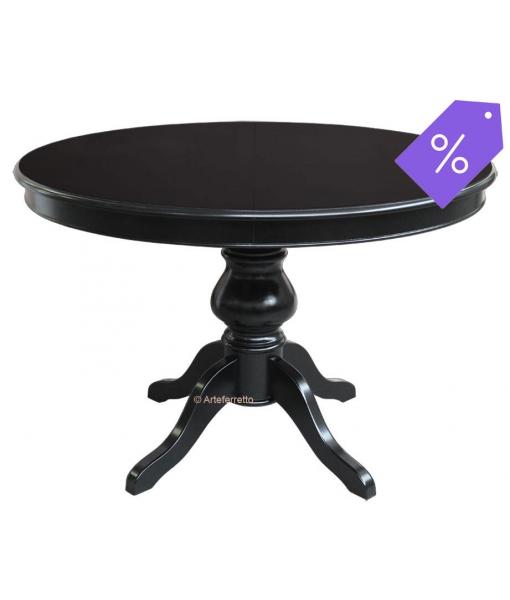 Classico tavolo rotondo allungabile nero, Art. 446-N
