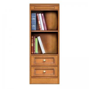 Mobile modulare componibile, libreria con 2 cassetti, Arteferretto