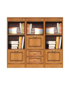 Composizione libreria bassa modulare con 3 ante e 2 cassetti, Arteferretto