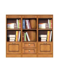 Composizione libreria bassa con 2 ante e 2 cassetti, Arteferretto