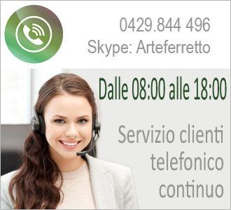Servizio clienti telefonico dalle 8 alle 18