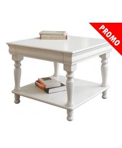 Tavolino basso da salotto con cassetto e gambe tornite