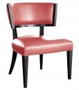 Poltroncina nero - rosa da salotto
