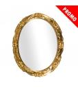 Specchiera ovale in foglia oro, Art. DB-98