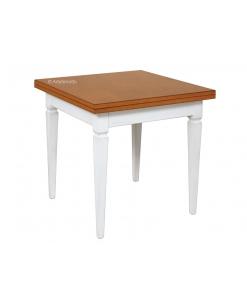 tavolo da pranzo bicolore apertura a libro, tavolo a libro, tavolo quadrato, tavolo da pranzo, tavolo bicolore, tavolo classico