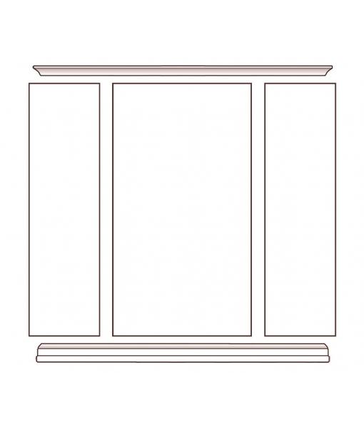 Composizione libreria vetrina per salotto