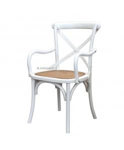 sedia bianca, sedia laccata, sedia con seduta in paglia, sedia shabby chic
