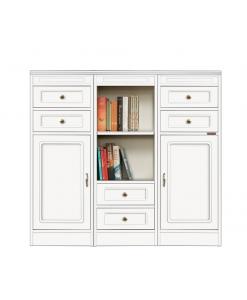 Mobile multifunzione basso modulare, utile come credenza o libreria, per il salotto, soggiorno