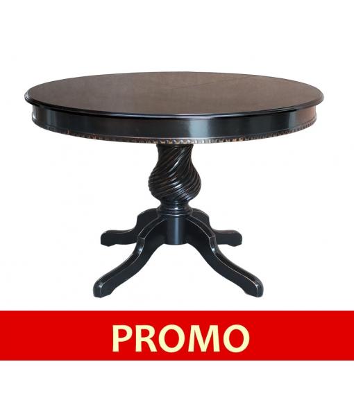 Tavolo rotondo nero elegante, Art. ER-1312-O-PROMO