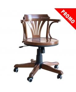 Sedia girevole in legno in offerta