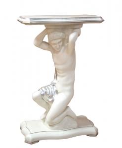 Tavolino gueridon intagliato, porta lampada, porta vaso