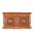 Credenzone in legno massello con 2 ante e 2 cassetti, alta qualità made in Italy