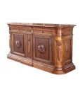 Credenzone classico in legno massello con intagli