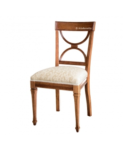 Sedia per sala da pranzo o salotto classica con imbottitura, Arteferretto